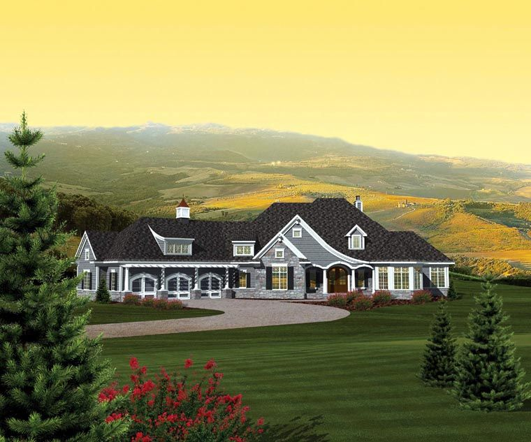 Ranch Style House Plan 73165 With 2 Bed 3 Bath 3 Car Garage Ranch Style House Plans Ranch Style Homes Ranch House Plan