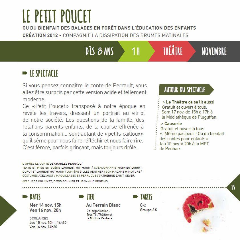 Extrait Plaquette Très Tôt Théâtre 2012-2013