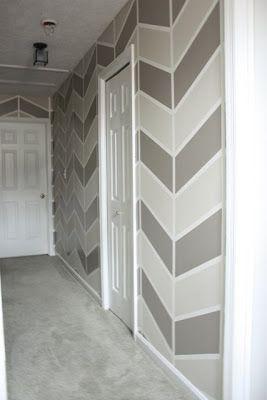 herringbone wall tutorial