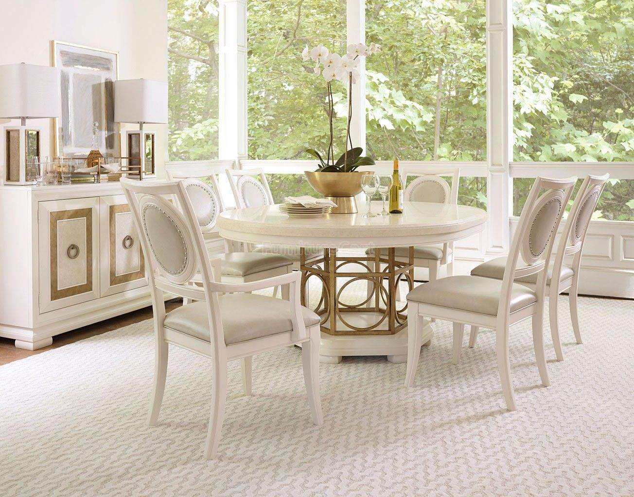 Tower Suite Round Dining Room Set (Pearl) Legacy Classic | Furniture Cart