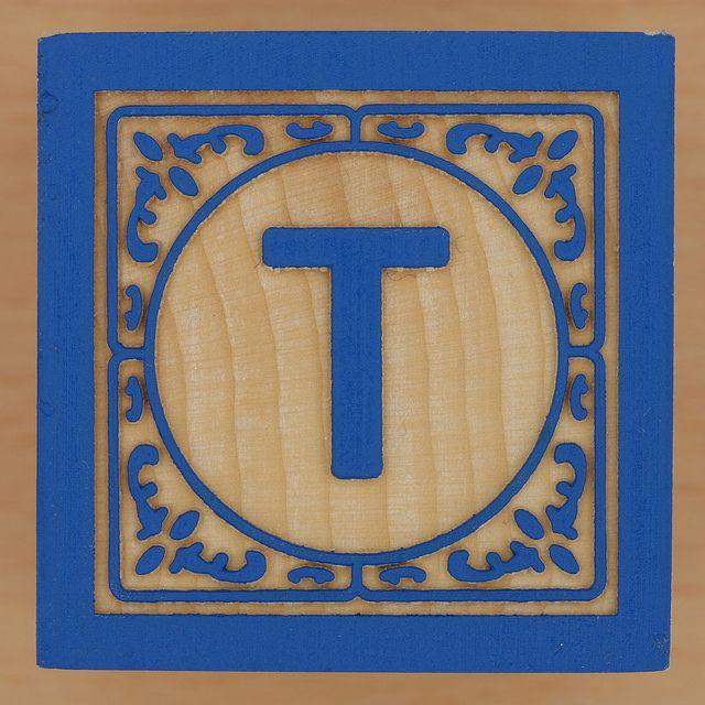 Block Letter T  Wooden Blocks Alphabet Soup And Block Lettering