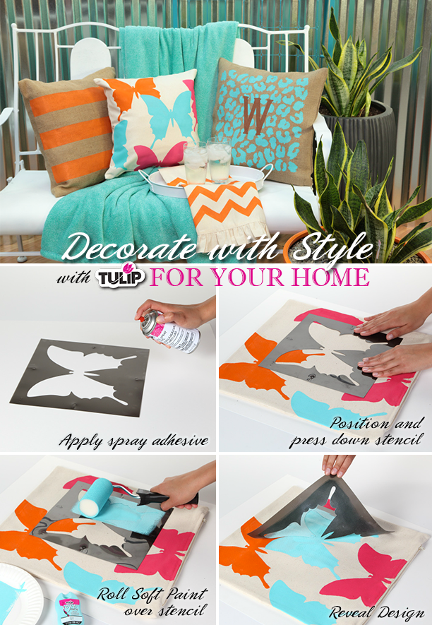 Use Tulip Stencil Spray Adhesive to get picture-perfect results with