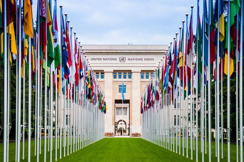 United Nations Office Hq In Geneva Switzerland May 8 2014 Geneva Switzerla Ad Office Hq United Nations Headquar Stock Photos Geneva The Unit