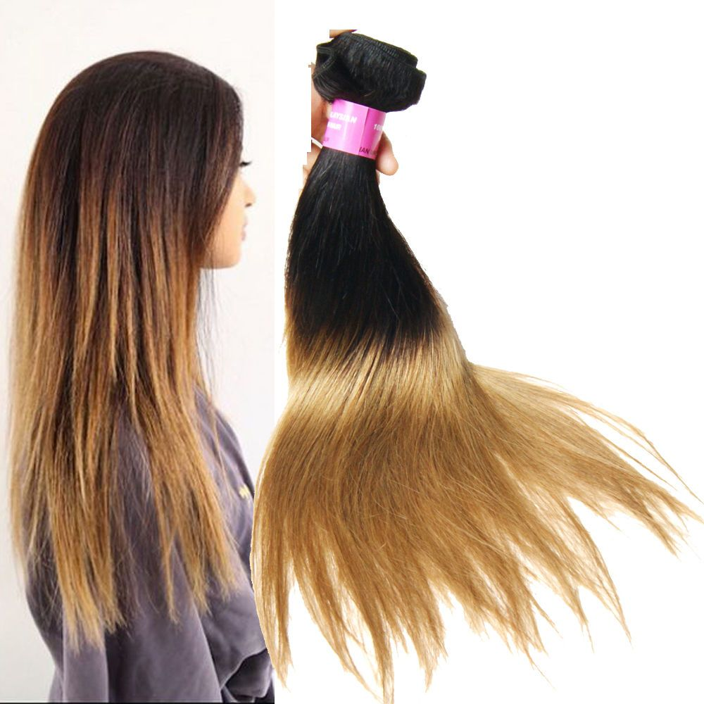 2 Tone Ombre 50g/Bundle 1B/27 Malaysian Straight Real