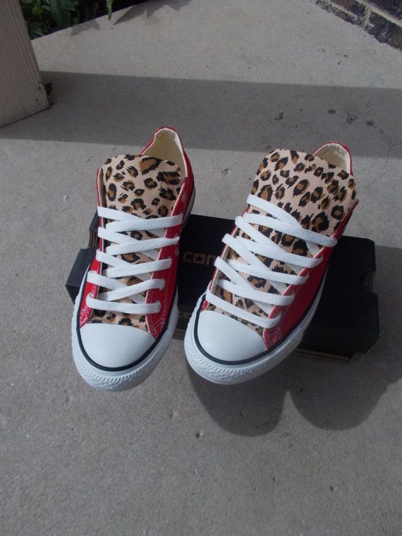 6eed0c220e5e Leopard Print Converse by ChaoticMayhem on Etsy