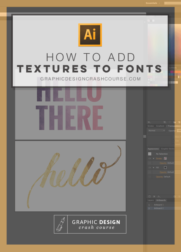 Watercolor, gold foil & other textures to fonts | Tutorials
