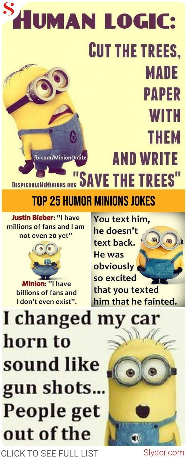 Hilariously Funny Minions Jokes Of All Time Hilarious Funny Memes Minion Jokes Slydor Funnymemes Minion Jokes Minions Funny Funny Minion Memes