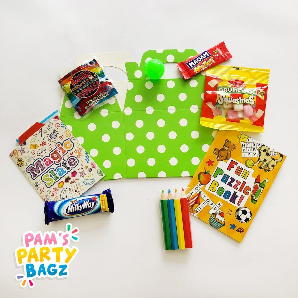 Excited To Share The Latest Addition To My Etsy Shop Pre Filled Green Polka Dot Party Box Https Etsy Me 2rq Kids Party Boxes Party In A Box Polka Dot Party