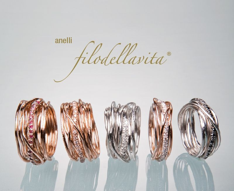 design senza tempo 4ddc9 85505 Gli anelli Filodellavita The Rings Filodellavita   Jewlery ...