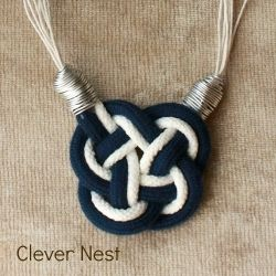 Don't be intimidated by this nautical knot, it's not that hard! Use some shoelaces and wire to complete this look.