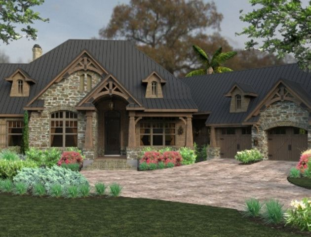 The Sogno Di Campagne Ranch House Plan Boast A Cozy Yet Luxurious Design With An Open Layout Craftsman House Plans Craftsman House Craftsman Style House Plans
