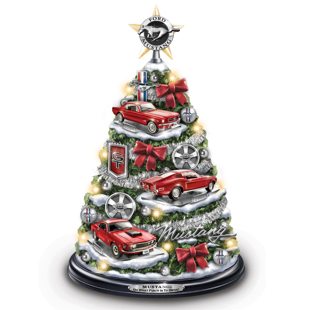 90a4c0ed9ace1 The Illuminated Ford Mustang Christmas Tree - $129.95 - Hammacher Schlemmer