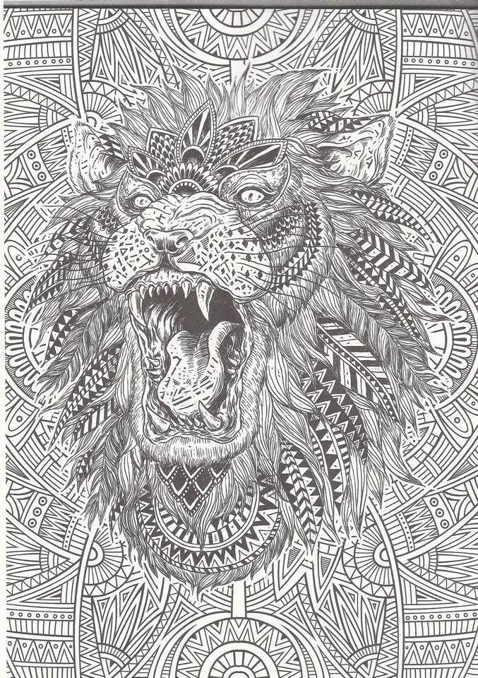 Lion 1 Ausmalen Tiere Zum Ausmalen Mandala Ausmalen