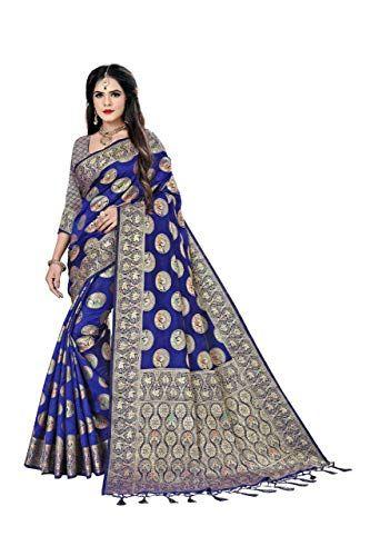 Bollywood Style Designer Pure Banarasi Silk Saree Party Wear Saree with Rich Pallu Designer Exclusive Saree Navyblue ...