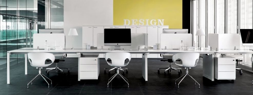 Shared Workstation For Open Plan Office