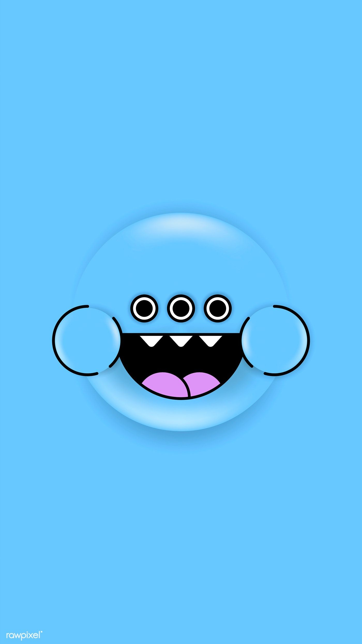 Colorful And Cute Monster Emoji Phone Background Vector Free Image By Rawpixel Com Te In 2020 Cute Monsters Emoji Monster Stickers