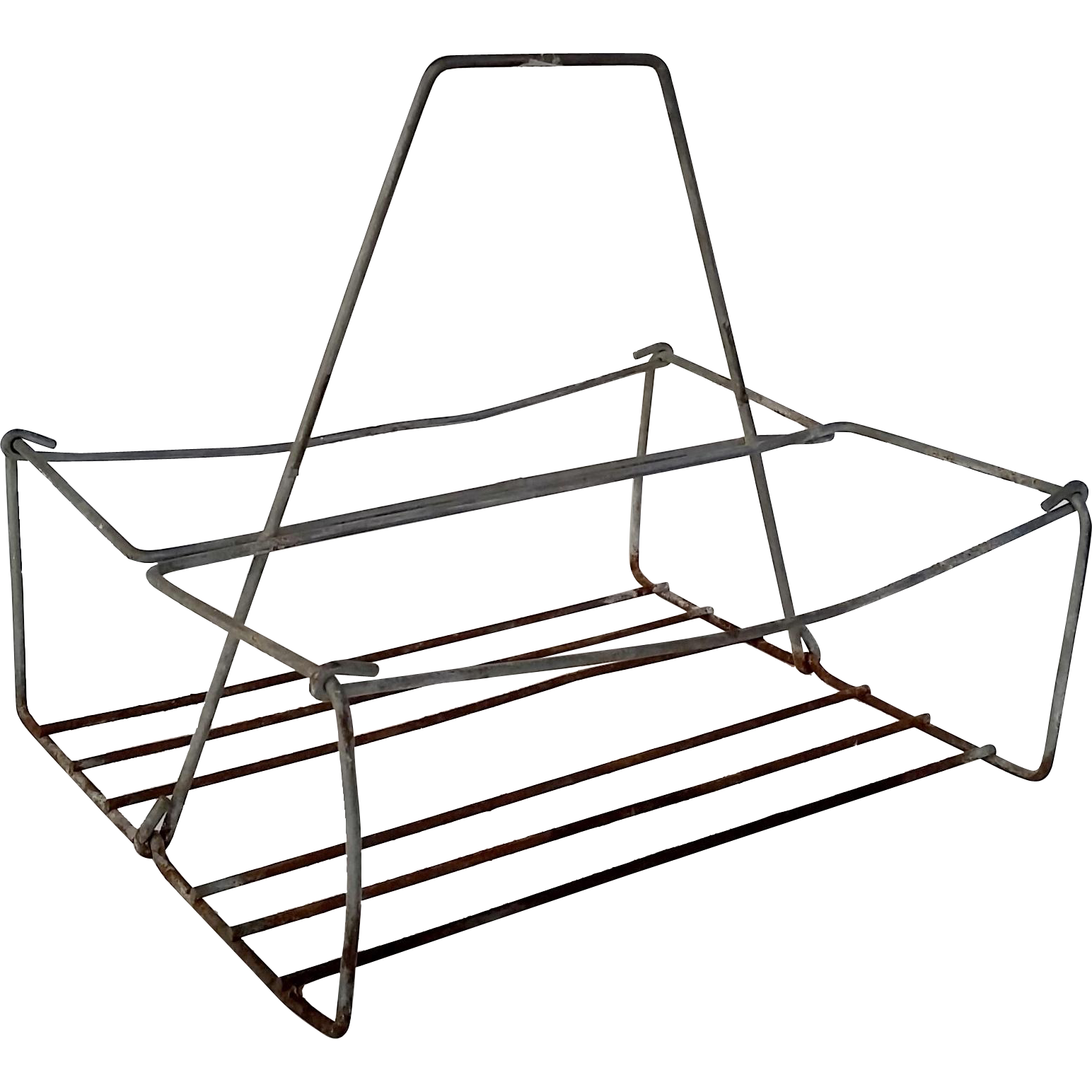 Vintage Metal Wire Caddy Bottle Carrier | Vintage metal, Bottle and ...