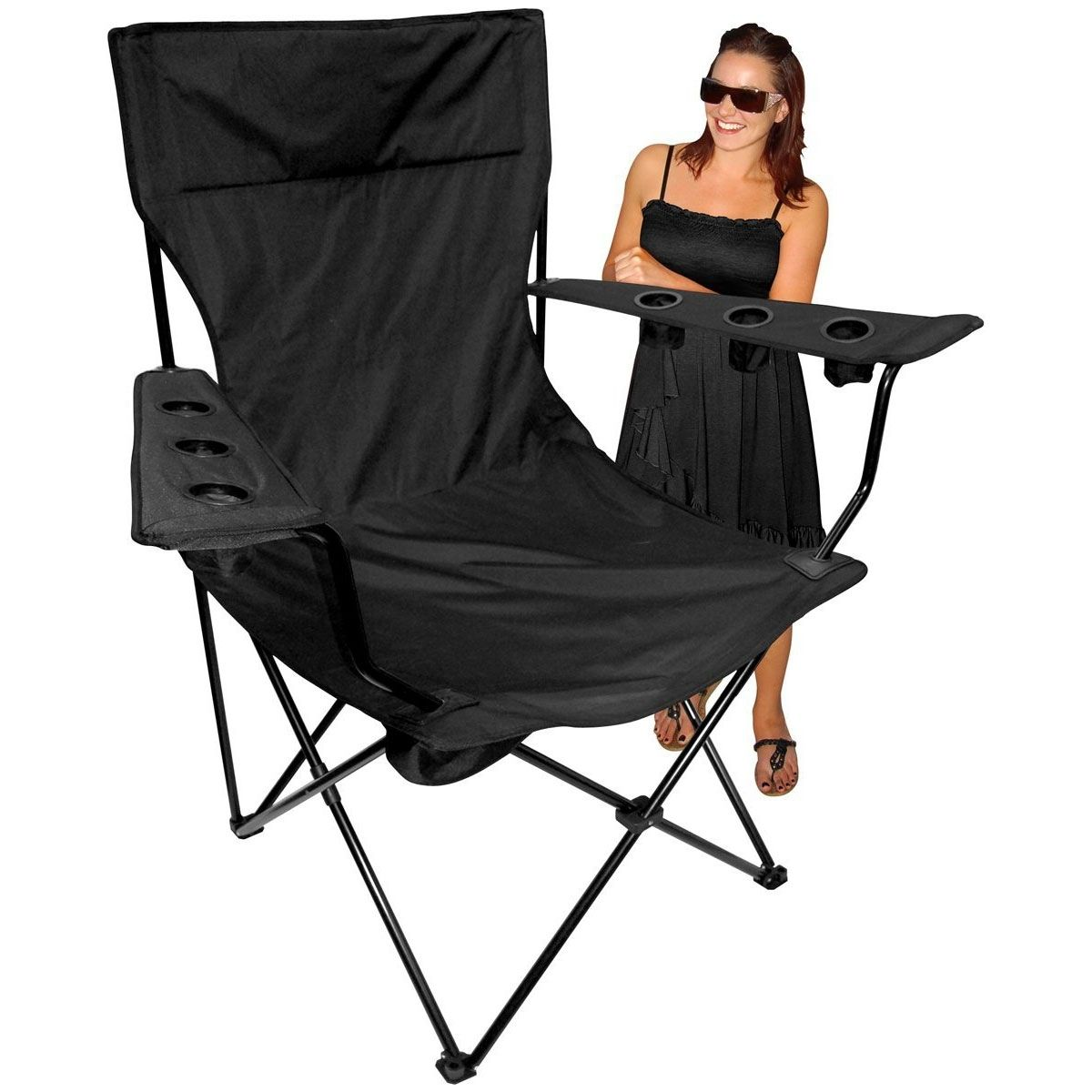 Folding camping chairs with footrest - Big And Tall Folding Camp Chairs