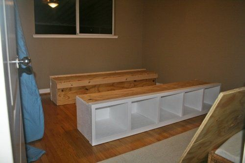 how to build a platform bed with storage