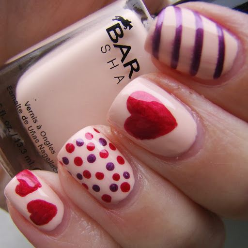 20 Pretty Nail Designs For Valentines Day Nail Candy Pinterest
