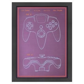 Video game joystick blueprint product printconstruction material video game joystick blueprint product printconstruction material matte papercolor black framefeatures malvernweather Gallery