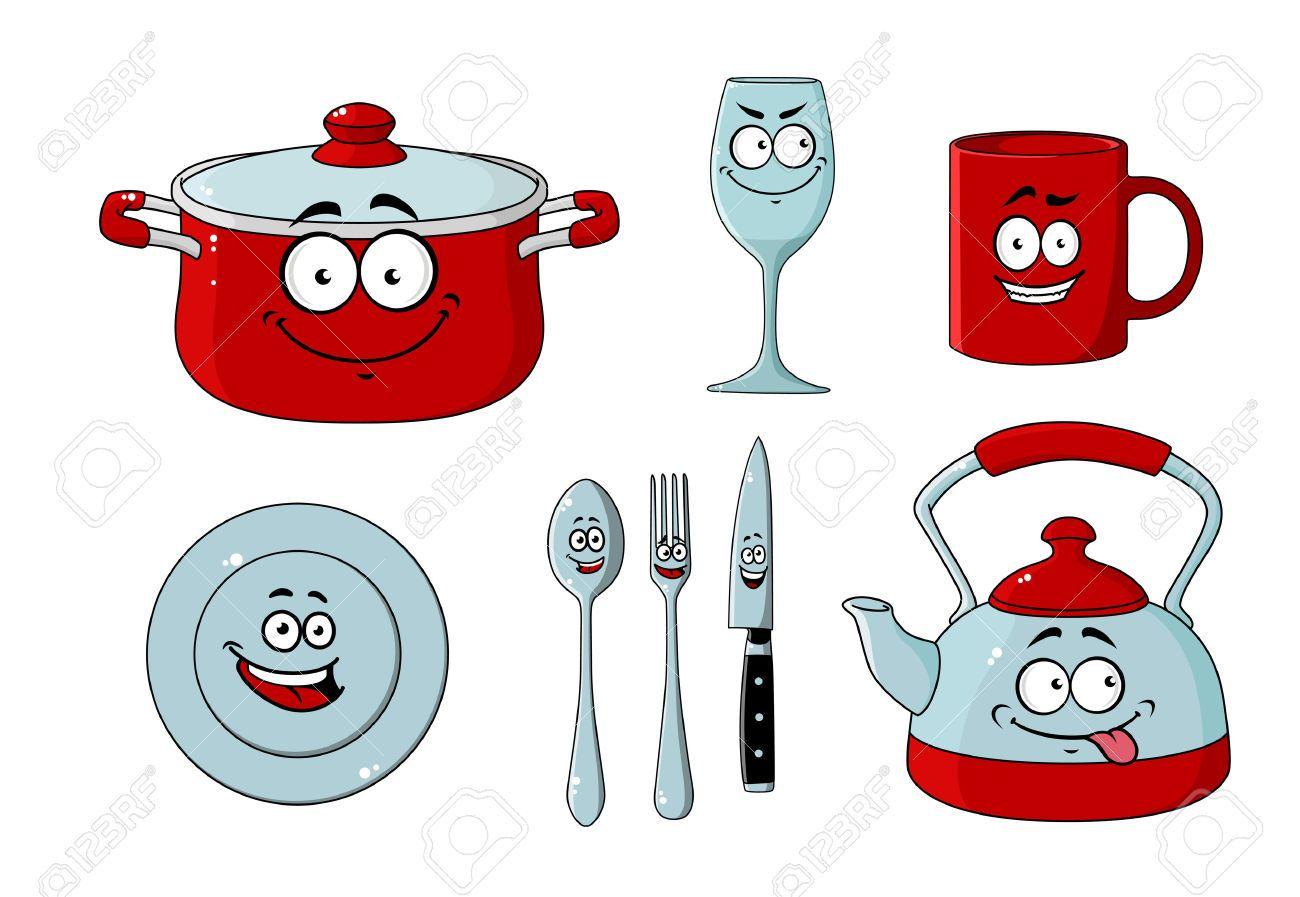 Utensilios de cocina animados buscar con google - Stoviglie e utensili da cucina ...