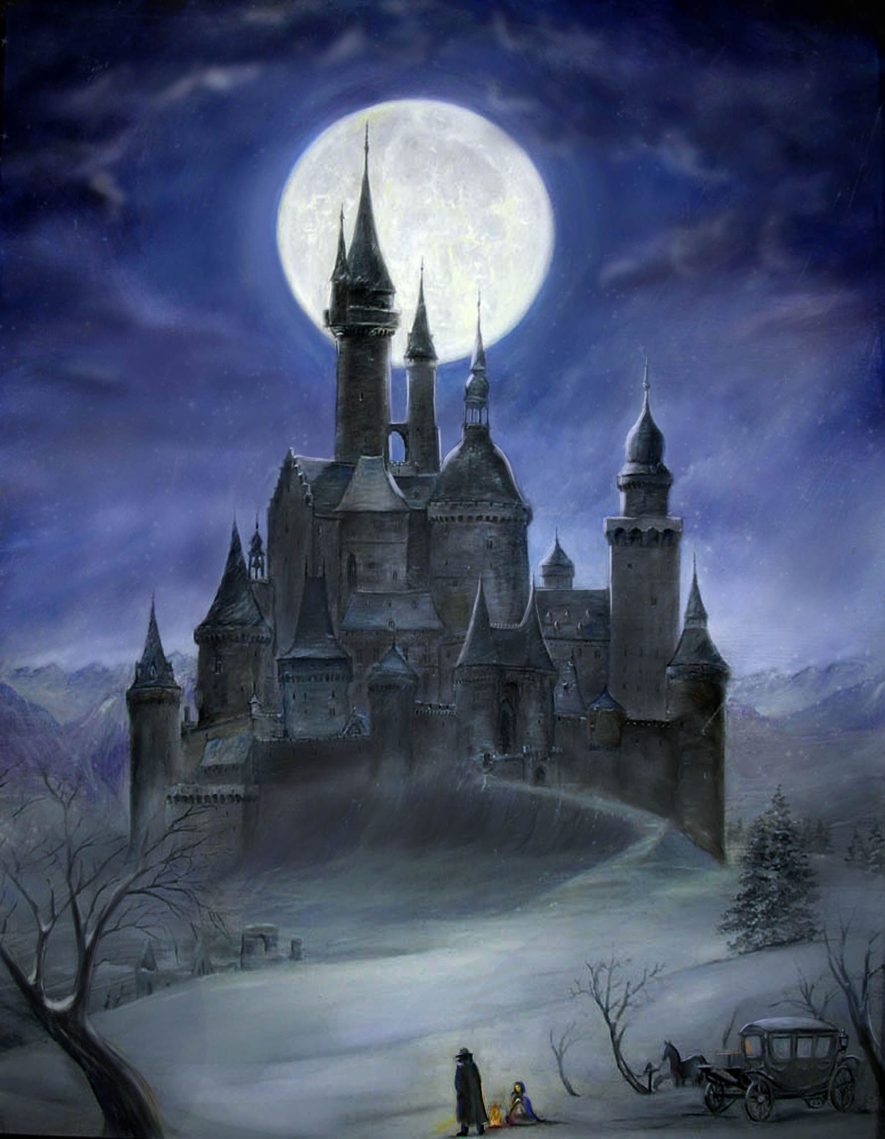 Gothic Castles Drawings