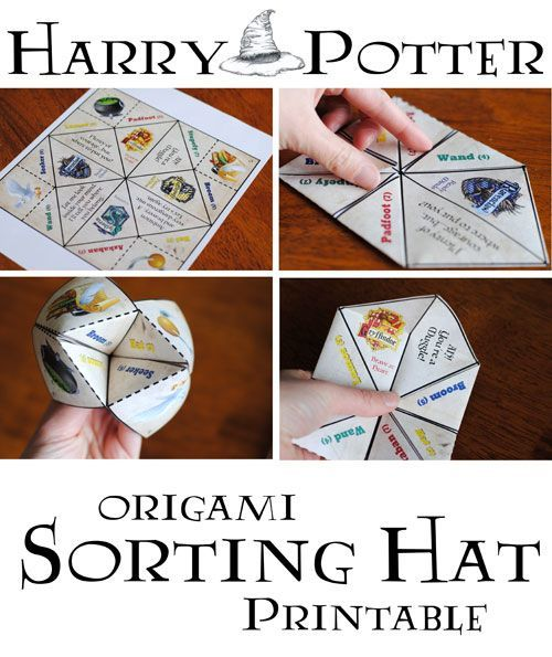 harry potter origami sorting hat free printable feier pinterest harry potter partys. Black Bedroom Furniture Sets. Home Design Ideas