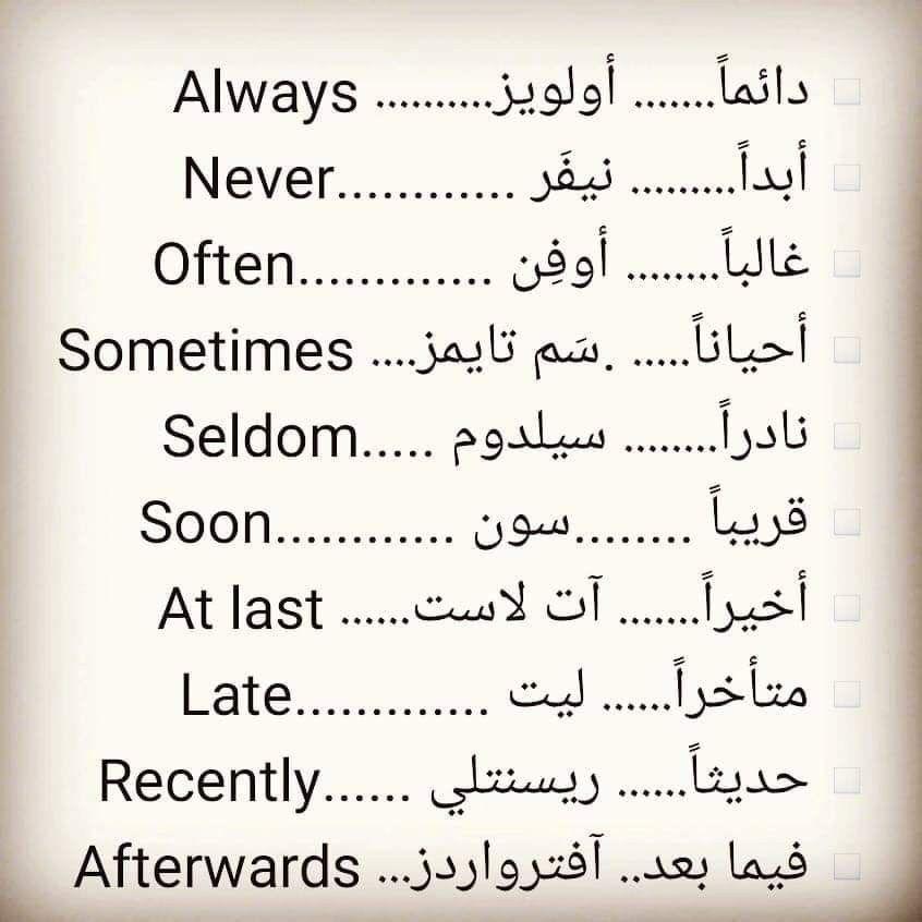 Learning Arabic Msa Fabiennem English Language Learning Grammar English Phrases English Words
