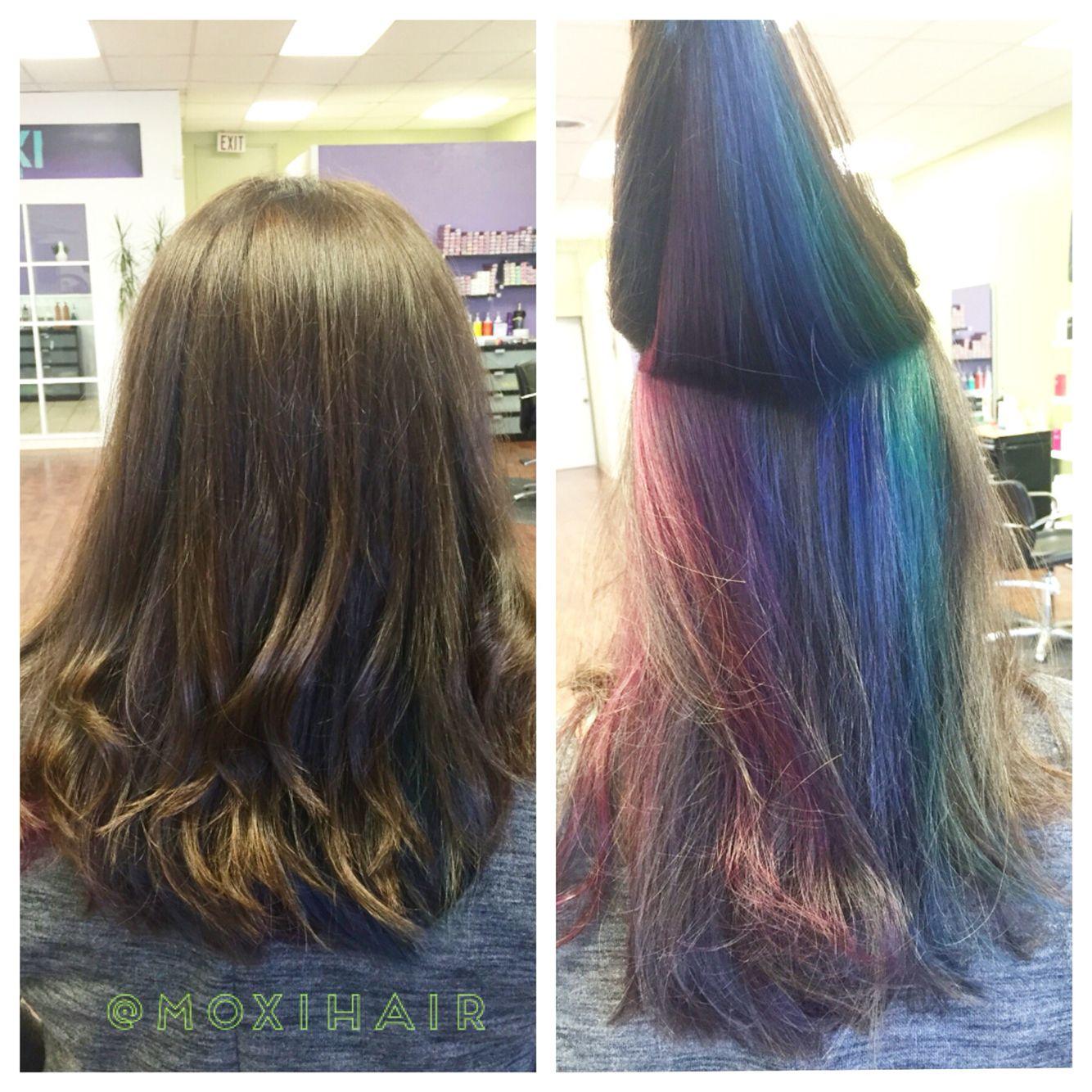 peekaboo rainbow hair pravana vivids hide color for work
