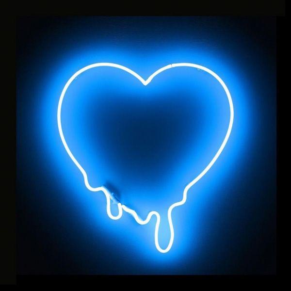 Neon melting heart | Neon wallpaper, Blue wallpapers, Blue ...