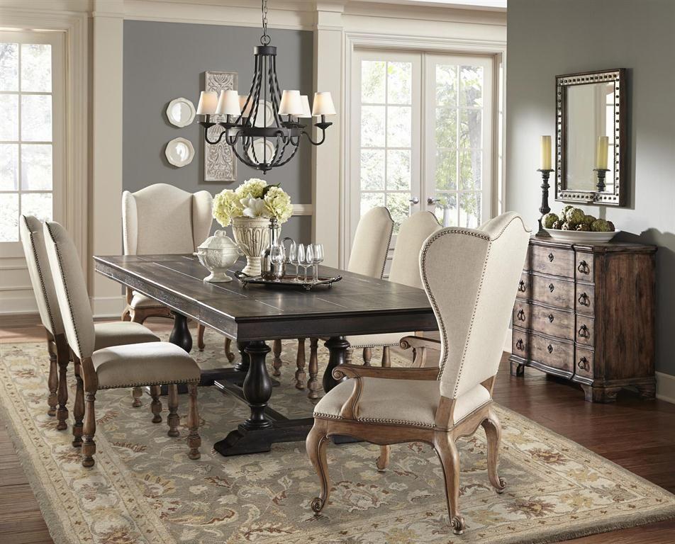 Montserrat Rectangular Trestle Dining Table Set Pulaski Accentrics Home