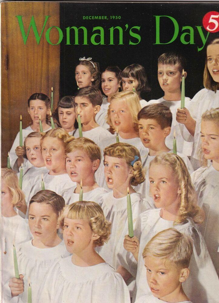Woman's Day Mag  Church Choir Cover Christmas Special December 1950 092719nonr