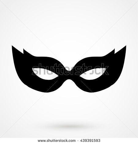 mask icon isolated on background. Modern flat pictogram