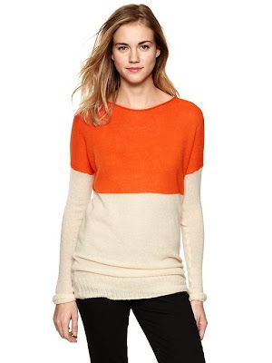 Gap orange colorblock sweater from Setting for Four