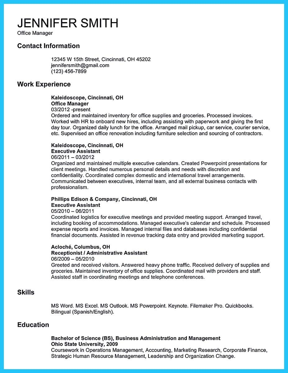 Office Manager Resume Objective Awesome Impressive Professional Administrative Coordinator Resume