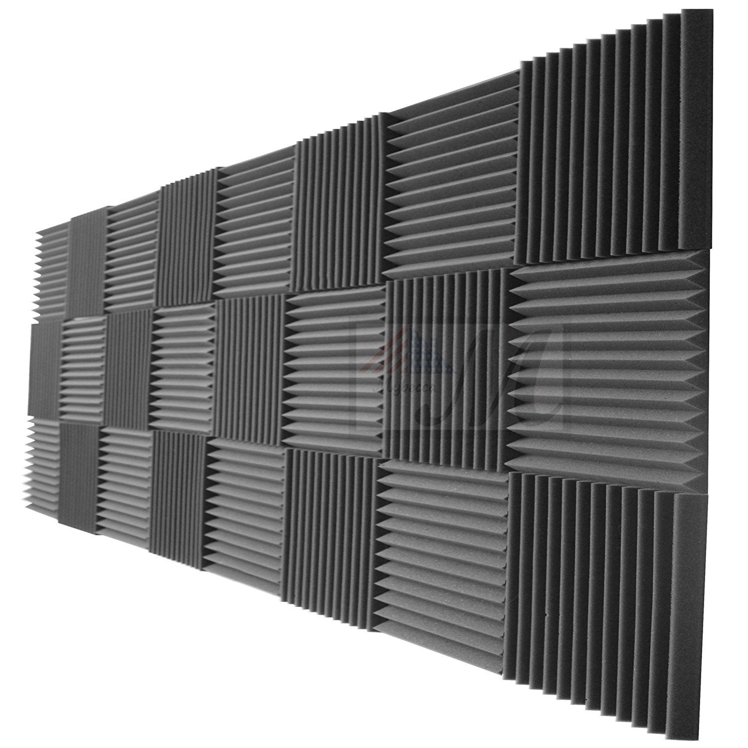Mybecca 24 Pack Acoustic Foam Panels 2 X 12 X 12 Studio Soundproofing Wedges 24 Square Feet Charc Studio Soundproofing Sound Proofing Soundproofing Walls
