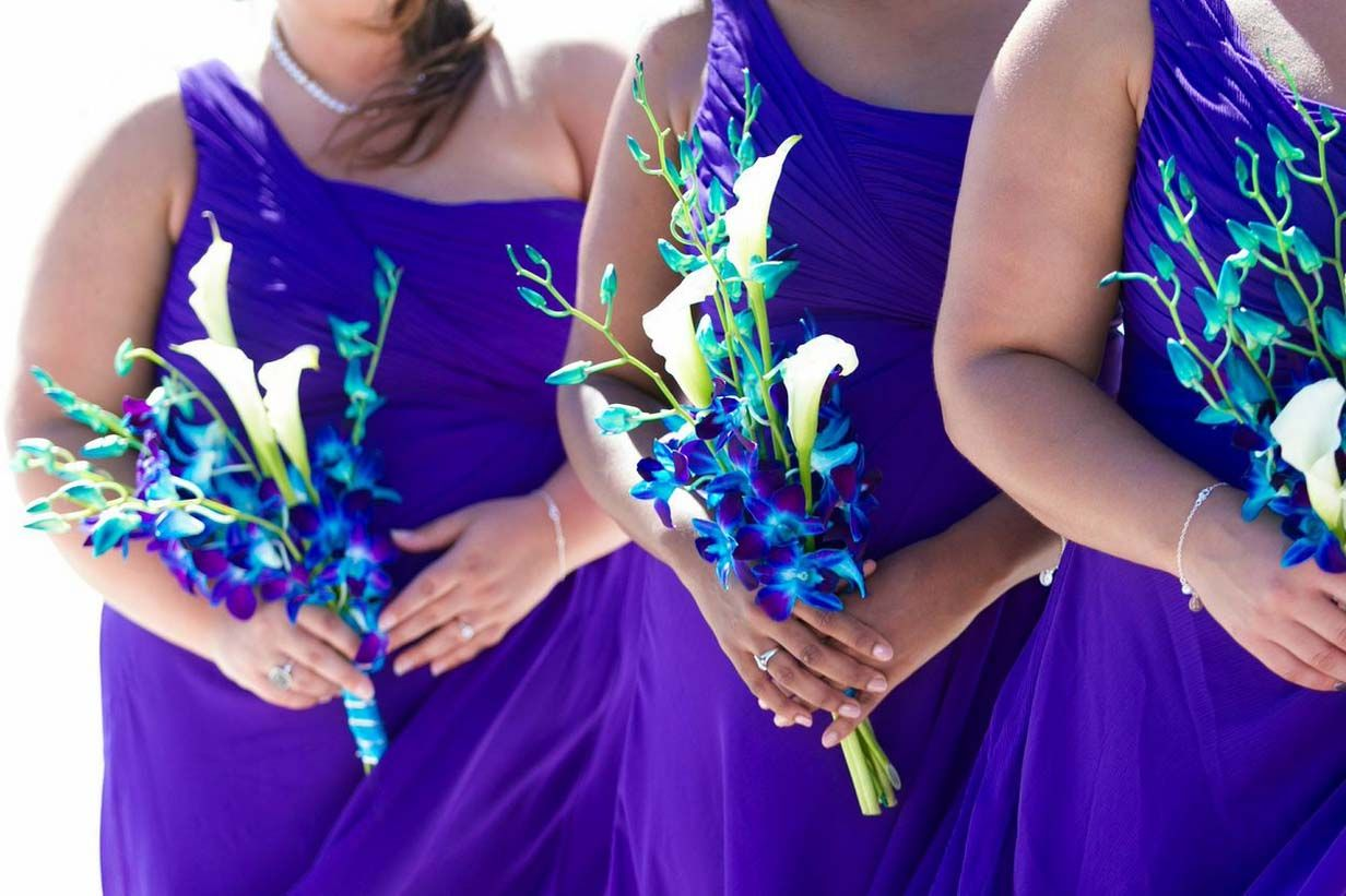 Florida Beach Wedding Themes Orchids By Blue Orchid Wedding