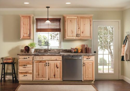 Best Home Depot Hampton Natural Hickory Hickory Cabinets 400 x 300