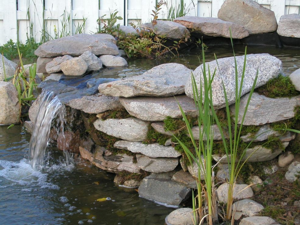 How To Build Pond Waterfall And Wall Waterfalls With Flagstones Gardens Pond Waterfall And