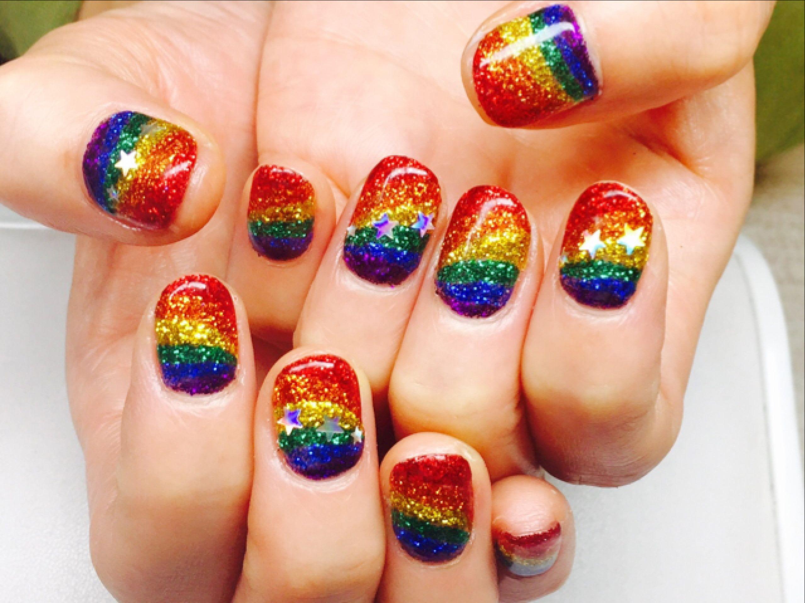 Rainbow Nails Rainbow Nails Fashion Nails Summer Nails