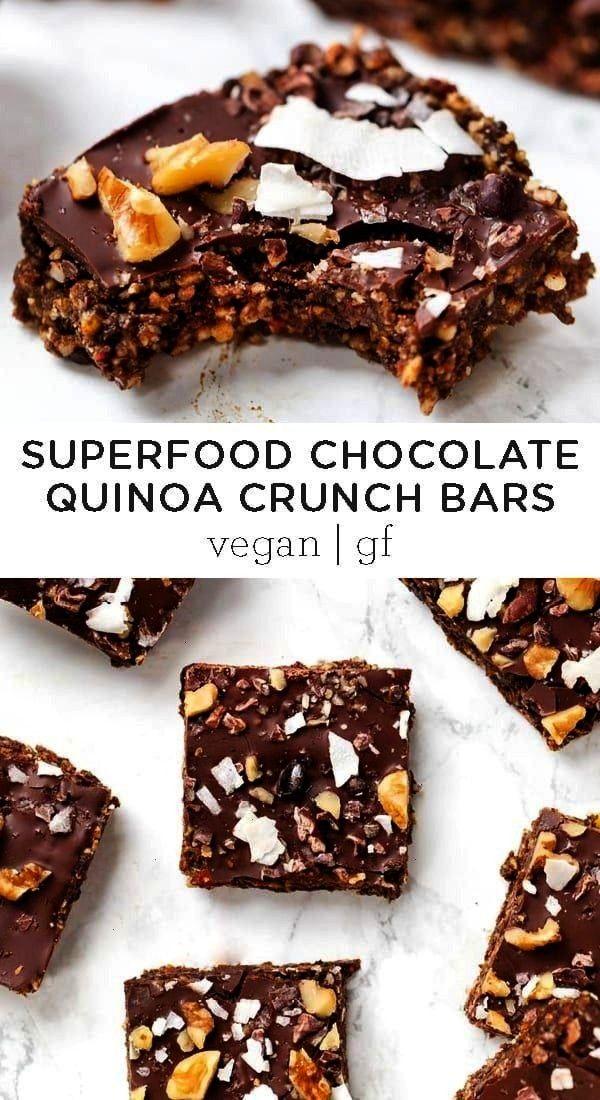 Quinoa Bars   Gluten-Free amp Vegan - Simply Quinoa - These healthy Superfood Chocolate Quinoa Crunc