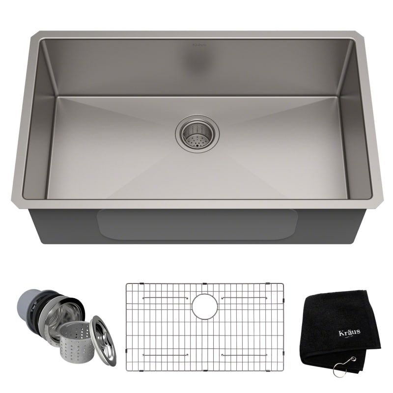 Kraus Khu100 32 Farmhouse Sink Kitchen Kitchen Sink Remodel Undermount Kitchen Sinks