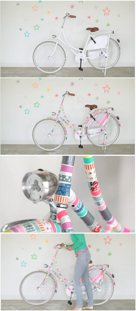 pimp my bike fahrrad versch nern mit masking tape diy ideen sch nes zum selbermachen. Black Bedroom Furniture Sets. Home Design Ideas