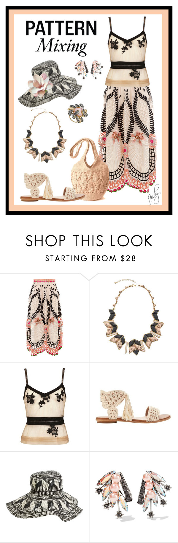 """""""Crochet: Patterns in Textures"""" by judymjohnson ❤ liked on Polyvore featuring Temperley London, Blu Bijoux, La Perla, Joie, Quiksilver, Elizabeth Cole and Andara"""