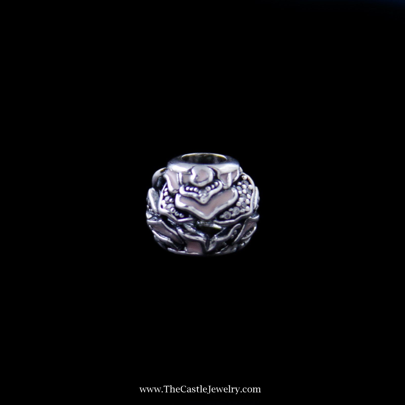 Pandora Rose Silver Charm in Sterling Silver