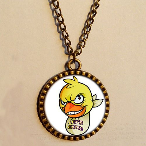 5 Five Nights at Freddy's Necklace Chica Chicken Scrabble Tile Antique Pendant #oem #Pendant