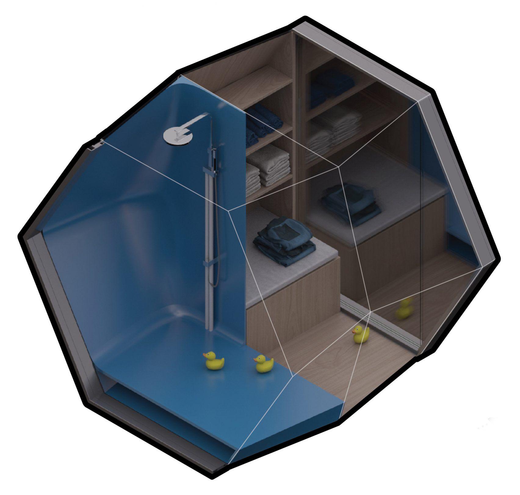 Framlab Proposes Parasitic Hexagonal Pods To Sleep New York S Homeless Homeless Shelter Design Shelter Design Homeless Housing