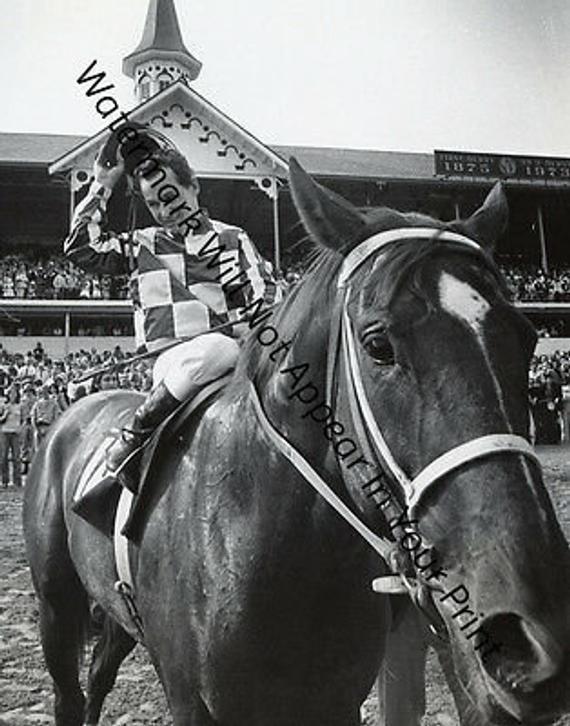 VINTAGE Secretariat Kentucky Derby Ron Turcotte Race Horse PIC Photo RARE
