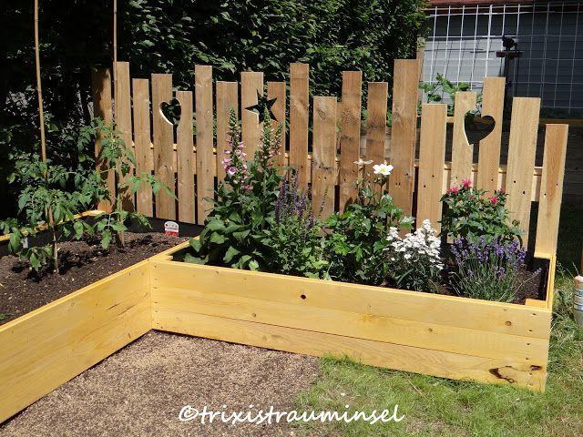 Ich hab schon vor ner ganzen Weile einen wunderschönen Holzzaun bei Christel vo... - DIY Ideen #zaunideen